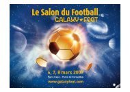 Offre Exposant - Galaxy Foot