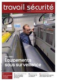 Équipements sous surveillance - Travail et sécurité