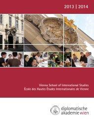 Brochure - Diplomatic Academy Vienna