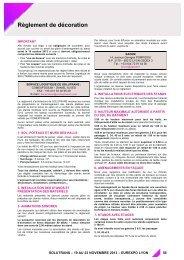 Règlement de décoration - Espace Exposant SOLUTRANS 2013 ...
