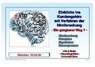 Einblicke ins Kundengehirn mit Verfahren der ... - Neuromarketing