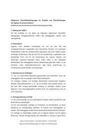 AGB für Projekte und Dienstleistungen - TK-Kommunikation