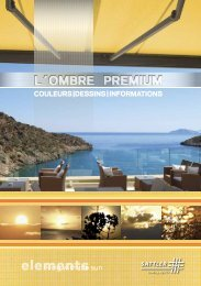 elements brochure - Sattler AG