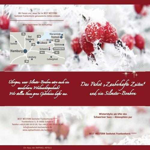 Weihnachten & Silvester 2012 - Raphael Hotels Hamburg