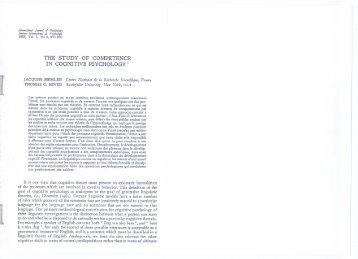 68 study of competence.pdf - SISSA