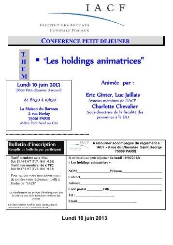 Conférence Petit Déjeuner de l'IACF (PDF) - STC Partners