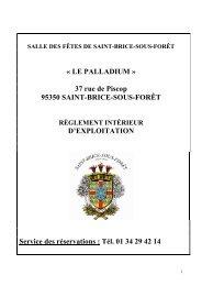 « LE PALLADIUM » 37 rue de Piscop 95350 SAINT-BRICE-SOUS ...