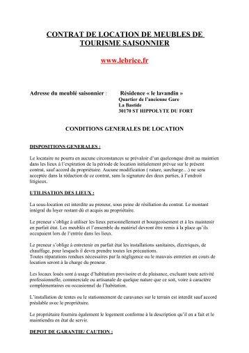 Contrat De Location Saisonnire  Albatros Rsidence