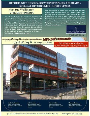 (Microsoft PowerPoint - Feuillet sous-location @ 700 ... - Altus InSite