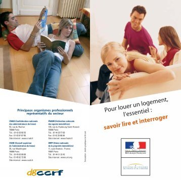 DGCCRF - Louer un logement, l'essentiel (dépliant) - economie.gouv