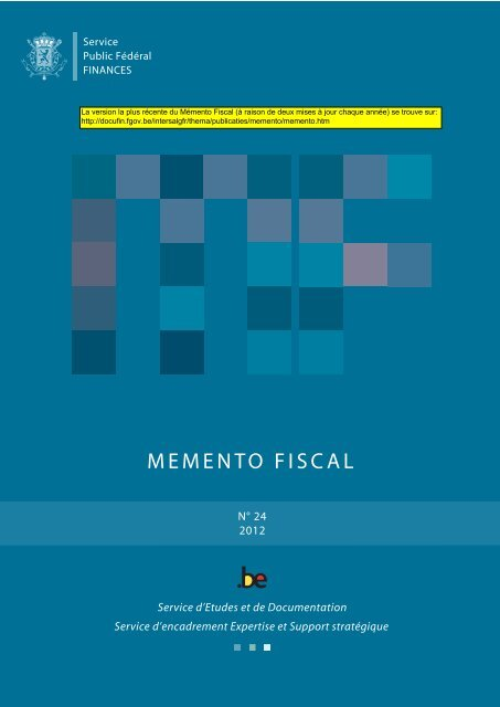 MEMENTO FISCAL 2012 (version janvier)