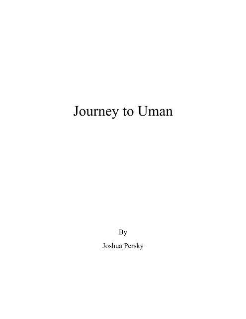 Journey to Uman