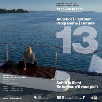 Brochure to download (in german or french) - BSG - Bielersee ...