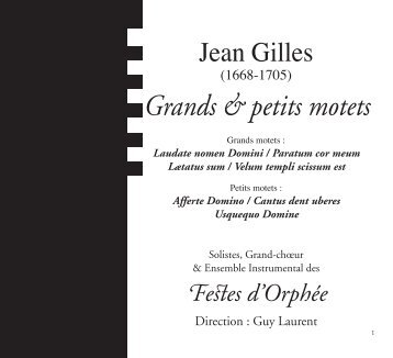 Grands & petits motets - CD Baroque - K617