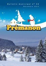 Dernier bulletin municipal (Décembre 2012) - Commune de Prémanon