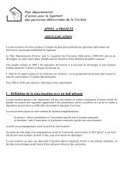 APPEL A PROJETS SOUS-LOCATION I - Conseil Général de la ...