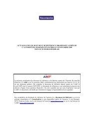 Actualisation du Rapport annuel (Document de référence ... - Faurecia