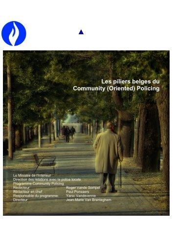 Les piliers belges du Community (Oriented) Policing