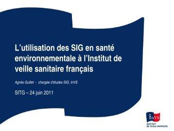 Utilisation des SIG en santé environnementale à l'Institut de veille ...