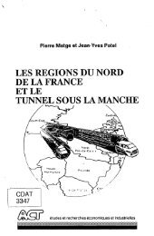 LES REGIONS DU NORD DE LA FRANCE ET LE TUNNEL SOUS ...