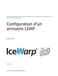 Configuration d'un annuaire LDAP - IceWarp