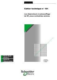 Les disjoncteurs à autosoufflage de SF6 sous ... - Schneider Electric