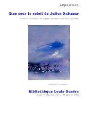 Nice sous le soleil de Julius Baltazar Bibliothèque Louis-Nucéra