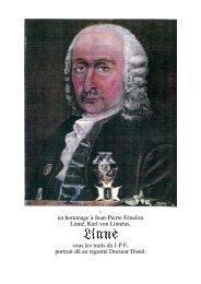 en hommage à Jean-Pierre Fénelon Linné, Karl von Linnéus, sous ...
