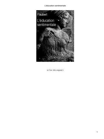 L'éducation sentimentale - Ebooks libres et gratuits