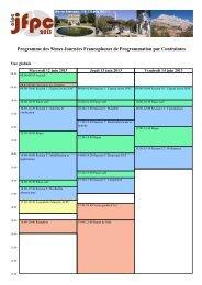 Programme des 9èmes Journées Francophones de ... - LSIS