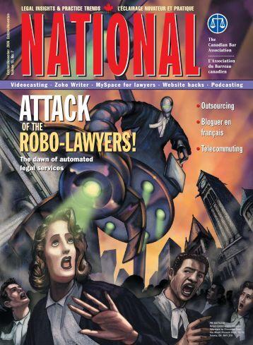 ROBO-LAWYERS! ROBO-LAWYERS! - National