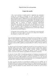 Exposé des motifs - Gouvernement du Grand-Duché de Luxembourg