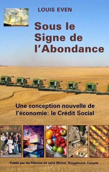 Sous le Signe de l'Abondance - Journal Vers Demain