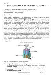 production d'energie electrique dans une centrale - Académie de ...