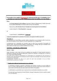 Projet de convention d'occupation du domaine public