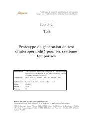 Lot 3.2 Test Prototype de génération de test d ... - Verimag