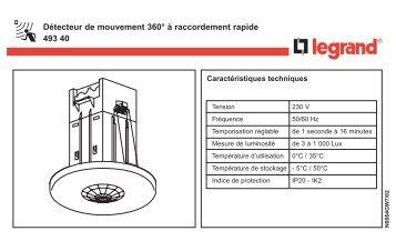 Détecteur de mouvement 360° à raccordement rapide ... - Legrand