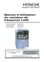 Manuel d'Utilisation du variateur de fréquence L200 - Stesag