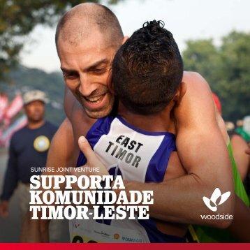 SUPPORTA KOMUNIDADE TIMOR-LESTE - Woodside