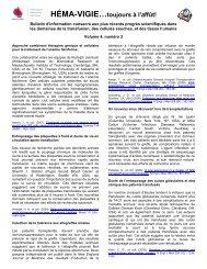 Héma-Vigie... toujours à l'affût!, Vol 4 # 2 - Héma-Québec
