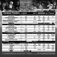 Carré Culture de janvier - La Mure Cinéma Théâtre