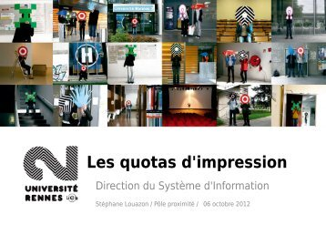 Les quotas d'impression - Université Rennes 2