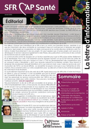 Numéro 1 - Université de Reims Champagne-Ardenne