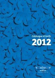 Catalogue Et Tarifs - Malmenayde