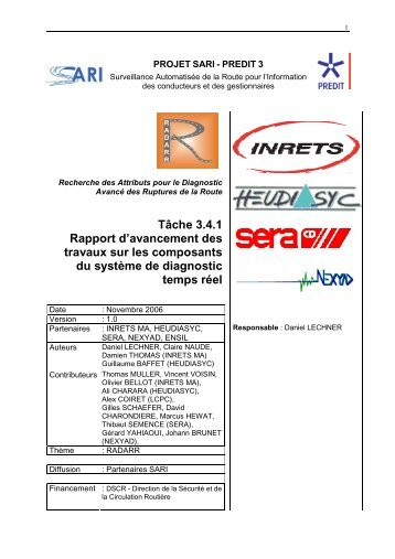 3 free Magazines from SARI IFSTTAR FR