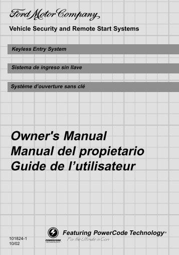 Owner's Manual Manual del propietario Guide de l'utilisateur