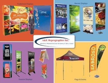 banner stands catalog - A&E Reprographics Inc
