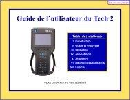 Guide de l'utilisateur du Tech 2