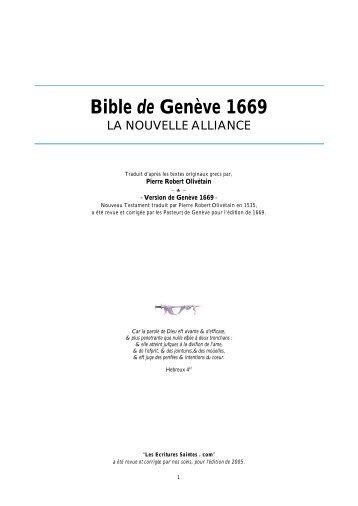Bible de Genève 1669