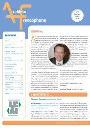 Auditeur Francophone : N° 2 Janvier - Mars 2010 - SVIR